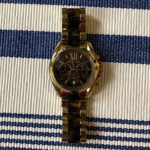 Tortoise and gold Michael Kors watch